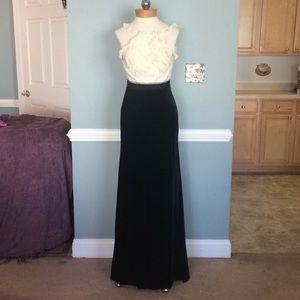 BCBG Max Azria Silk & Velvet Gown